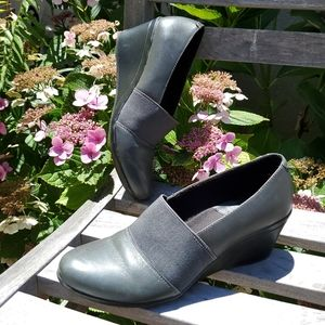 Clark's Grey Sexy Professional Leather  Wedges